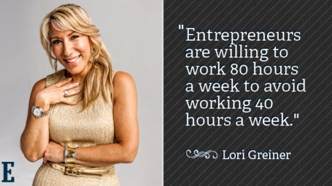 Entrepreneurs are the only people who will work 80 hours a week to avoid working 40 hours a week